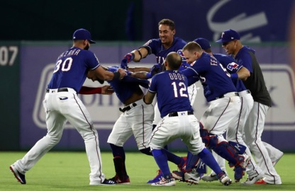 Nine homers left Globe Life Park on Friday. None of them came in Rangers' winning rally