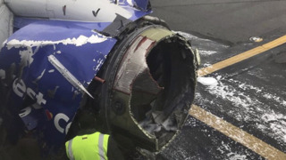 Listen to the Southwest 1380 pilot talk to air control after engine catches fire en route to Dallas