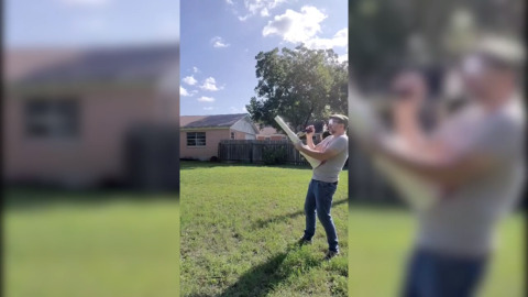 Texas man creates 'candy cannon' for socially distanced trick-or-treat