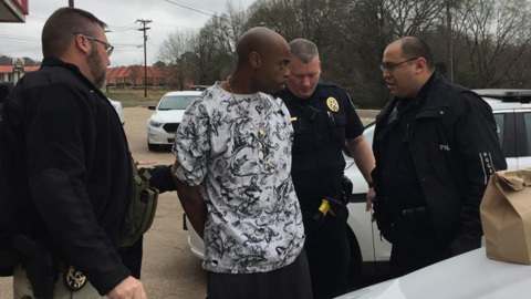 Texas police arrest suspect they say set customer on fire during robbery