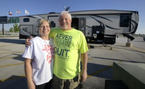 Die hard race fans start camping eight days before TMS races