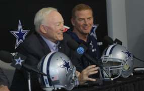 Is Jerry Jones going to make a big splash with the NFL Draft in town?