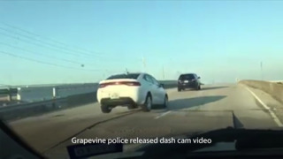 Cars go airborne after road buckles in Grapevine