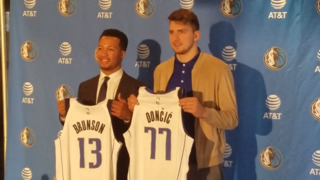 Newest Mavs Luka Doncic and Jalen Brunson