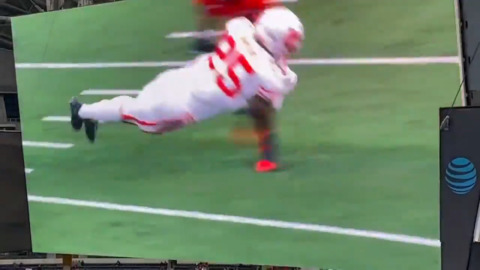 Katy defender makes diving interception vs. Cedar Hill in title game