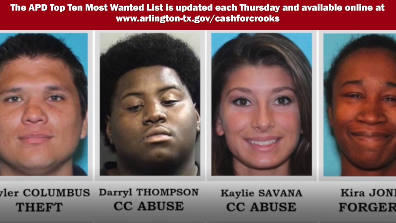 Video: Arlington Police's 10 Most Wanted Criminals, August 8