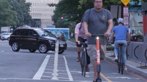 Should bike riders have their own lanes or are they safer sharing the road with cars?