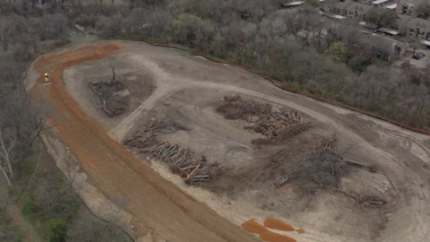 'Significant' trees clear cut at Waterside development in southwest Fort Worth