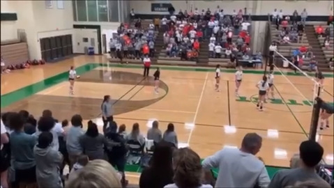 Watch match point that sends the Kennedale volleyball team to the state tournament