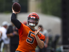 Logan Woodside: 'It's my fault if I don't learn from' Bengals QB Dalton