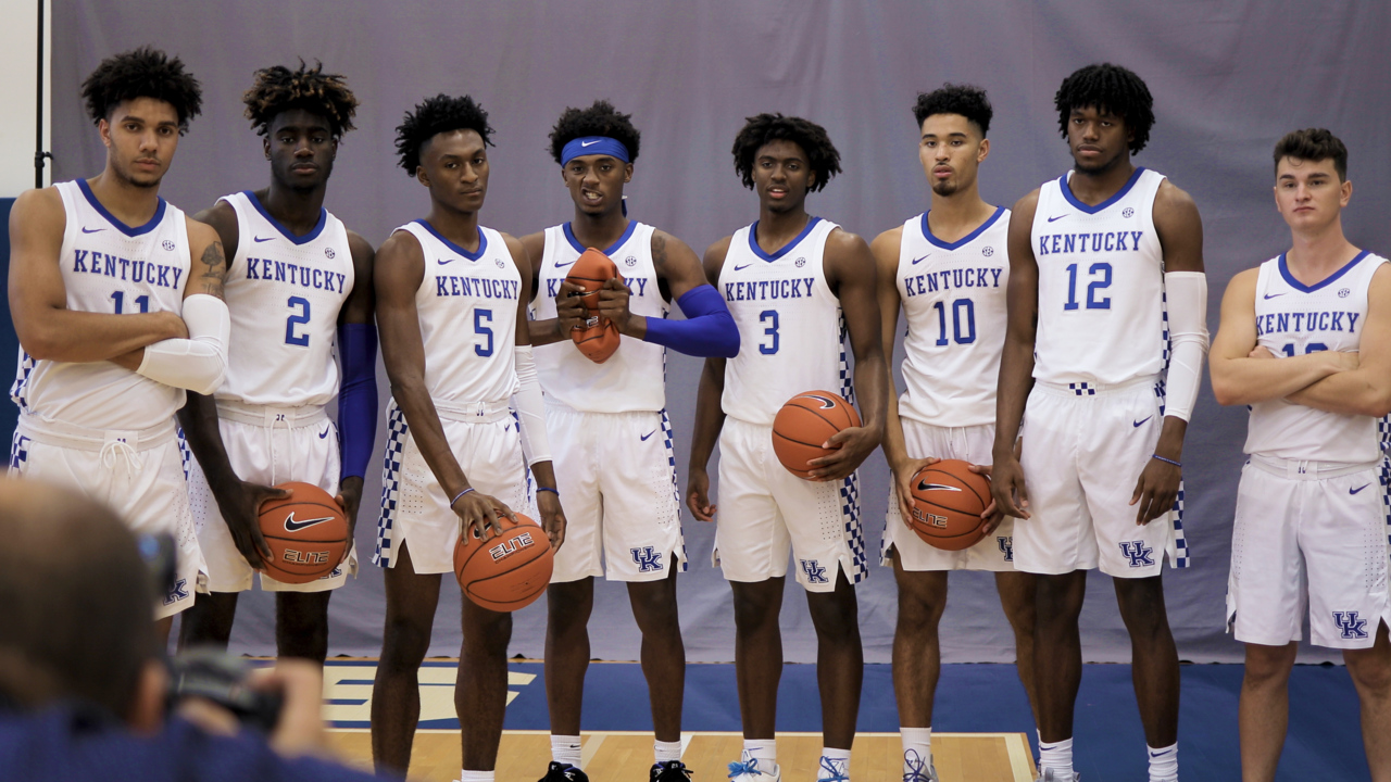 Behind the scenes: 2019-20 UK men's basketball Photo Day ...