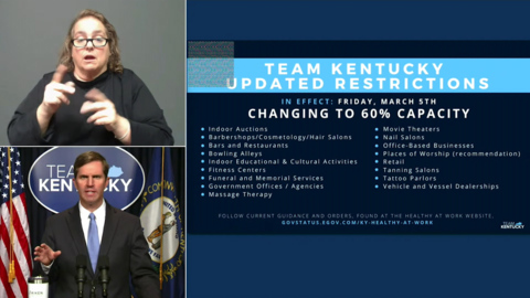 KY to increase capacity in businesses, childcare