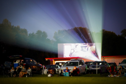Weekly double features at the 27 Twin Drive-In Theatre
