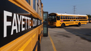 Fayette County school buses readied for first day