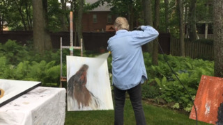 Watch this Lexington artist use a pressure washer in his signature technique