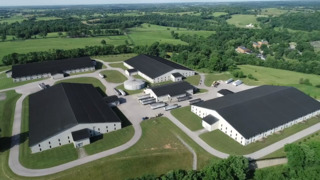 Bird's-eye view of Woodford Reserve Distillery