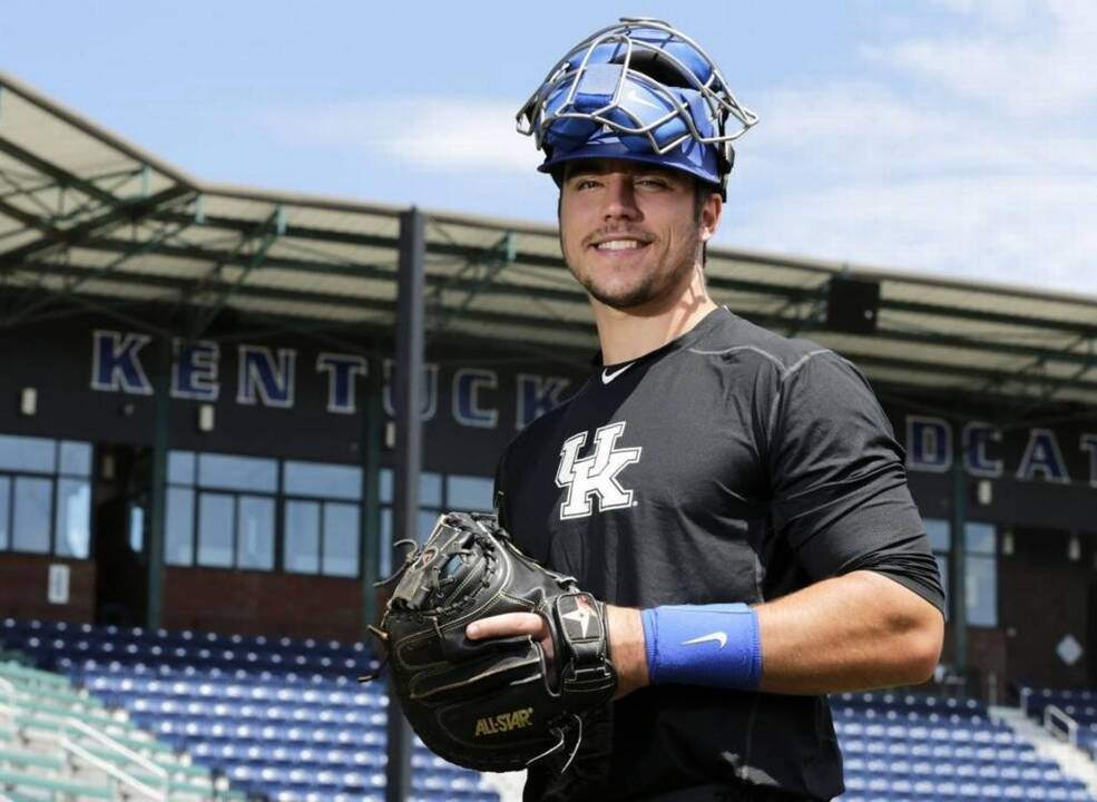 purchase cheap 0c498 d0392 UK Wildcats catcher Kole Cottam wears No. 13 for a reason ...