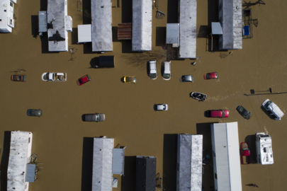 Aerial video: Beattyville submerged following major flooding