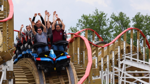 Kentucky Kingdom debuts new family roller coaster for 30th anniversary