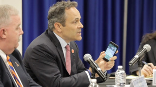 At school safety meeting, Bevin points finger at 'screen time'