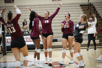 Photo slideshow: Tates Creek volleyball defeats Dunbar 3-2