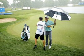 Frustrating weather day for Cooper Musselman and golfers at Barbasol