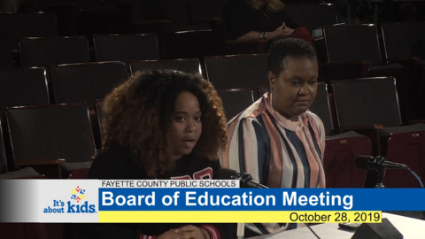 Fayette substitute teacher tells school board shortages putting learning at risk