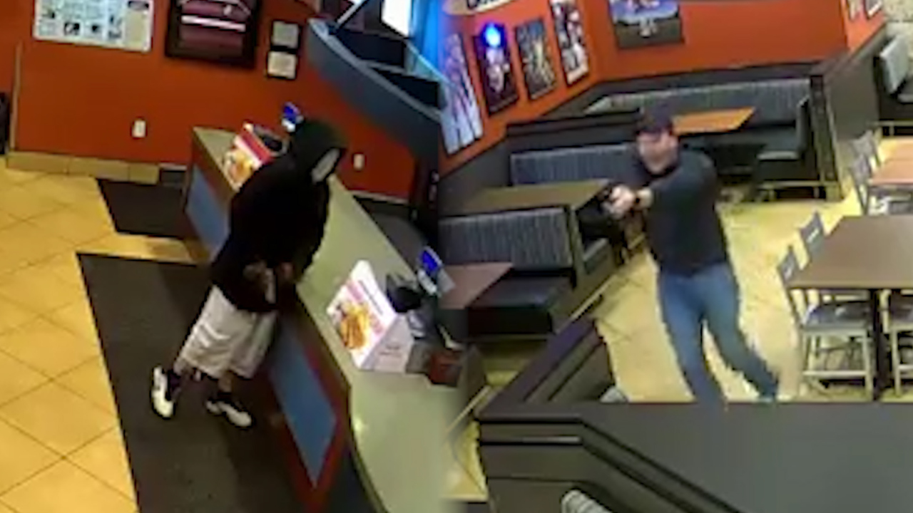 Off-duty cops at Kentucky Raising Cane's foil would-be robber, video shows