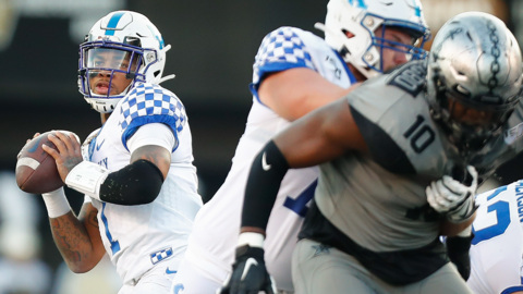 UK's Lynn Bowden gives credit to offensive line after win at Vanderbilt