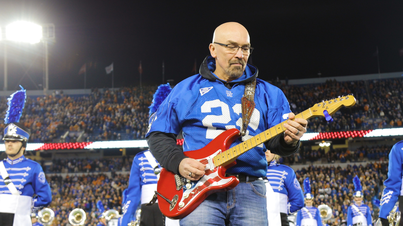 National anthem guitar solo at Kroger Field by Montgomery Gentry's lead guitarist