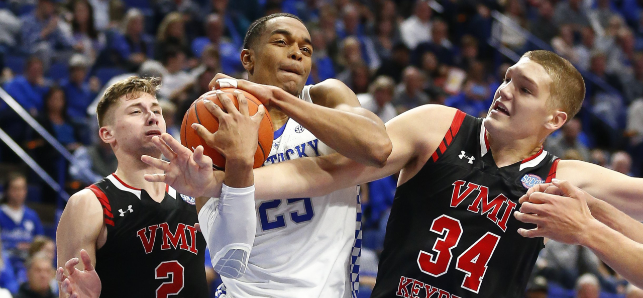 32b3f2458cba Kentucky basketball fends off pesky VMI in Rupp Arena