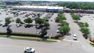 Bird's-eye view of closing Richmond Road Walmart