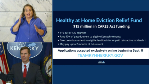Gov Beshear announces Kentucky Eviction Relief Fund