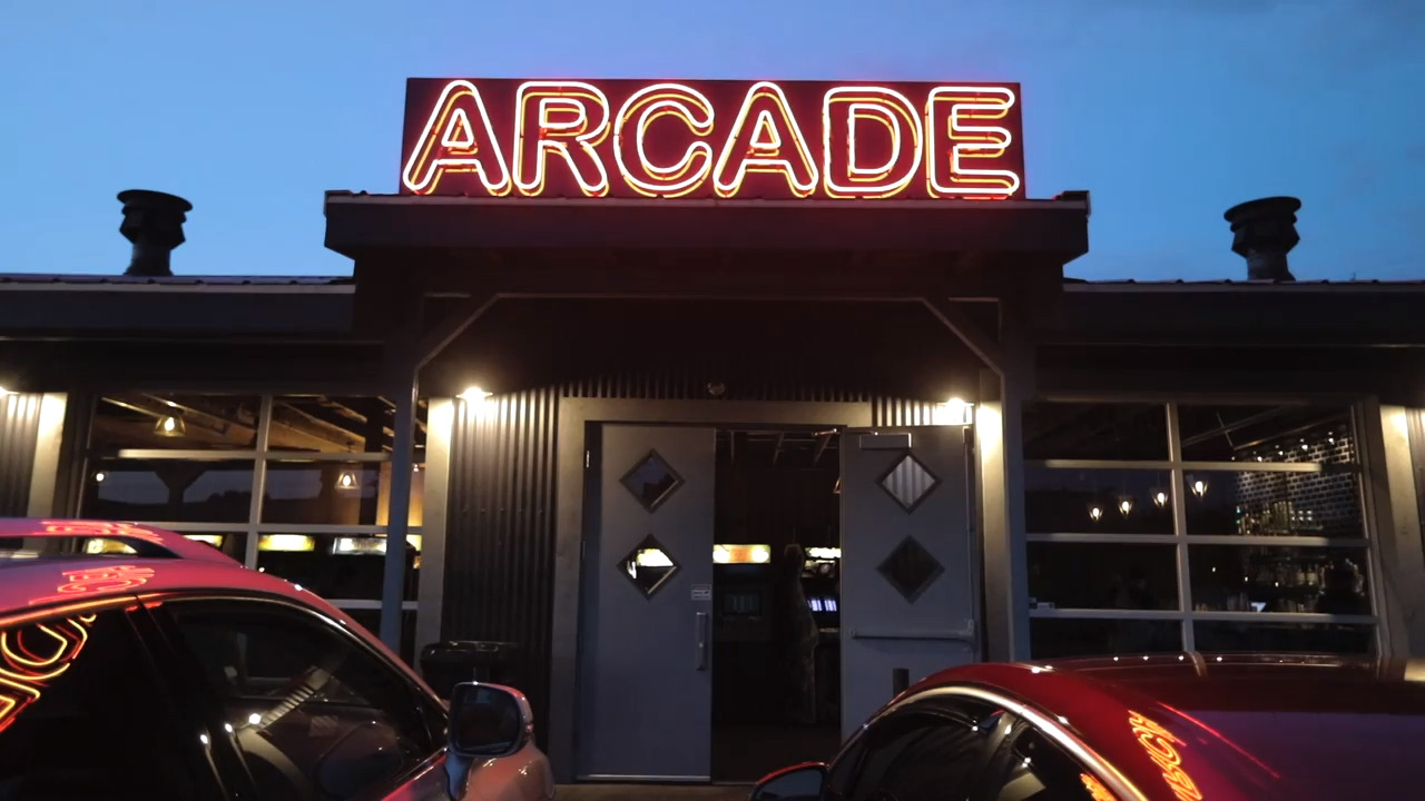 It was an old Texaco Station. Now it's an arcade where you can party like it's 1989.