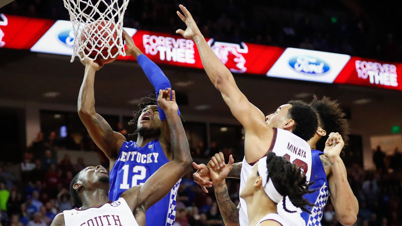'We can pound them inside.' Arkansas' lack of size emboldens Kentucky.