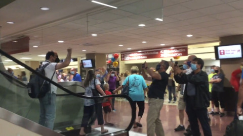 Fencing coach of Olympic gold medalist is welcomed home to Lexington