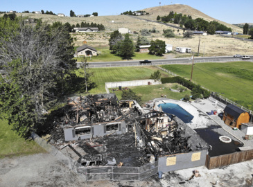 This West Richland fire was so hot, crews had to bring down the roof to snuff it out
