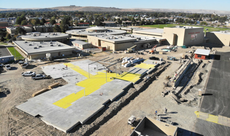 Drone view of Kamiakin High School's $14 million classroom expansion