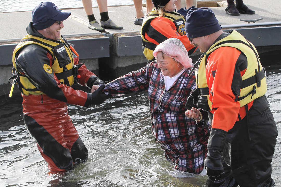 75-year-old Tri-Cities woman wanted to jump in the Columbia River for her birthday. Here's why
