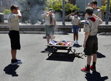 Formal Flag Day disposal ceremony in downtown Kennewick