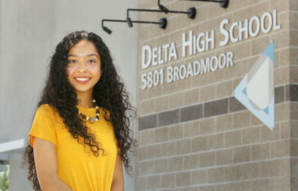 All signs point to success for Delta High grad. And her signs point to Yakima - literally