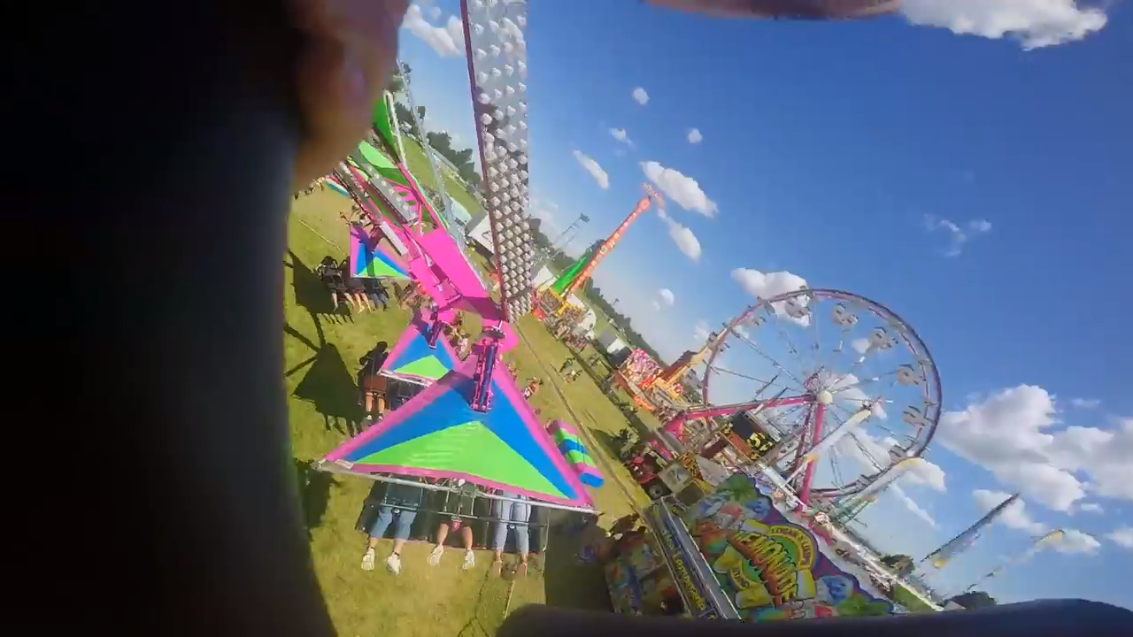 There are 3 new thrill rides at the fair. Can you ride them all?