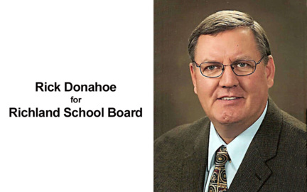 Richland School Board candidate Rick Donahoe
