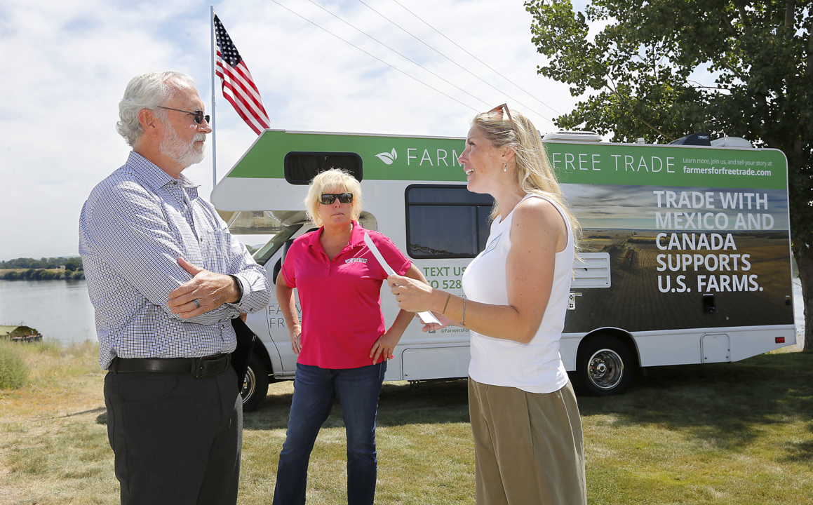 Farmers rally in Pasco to support trade deal. Many hope to rebuild after retaliatory tariffs