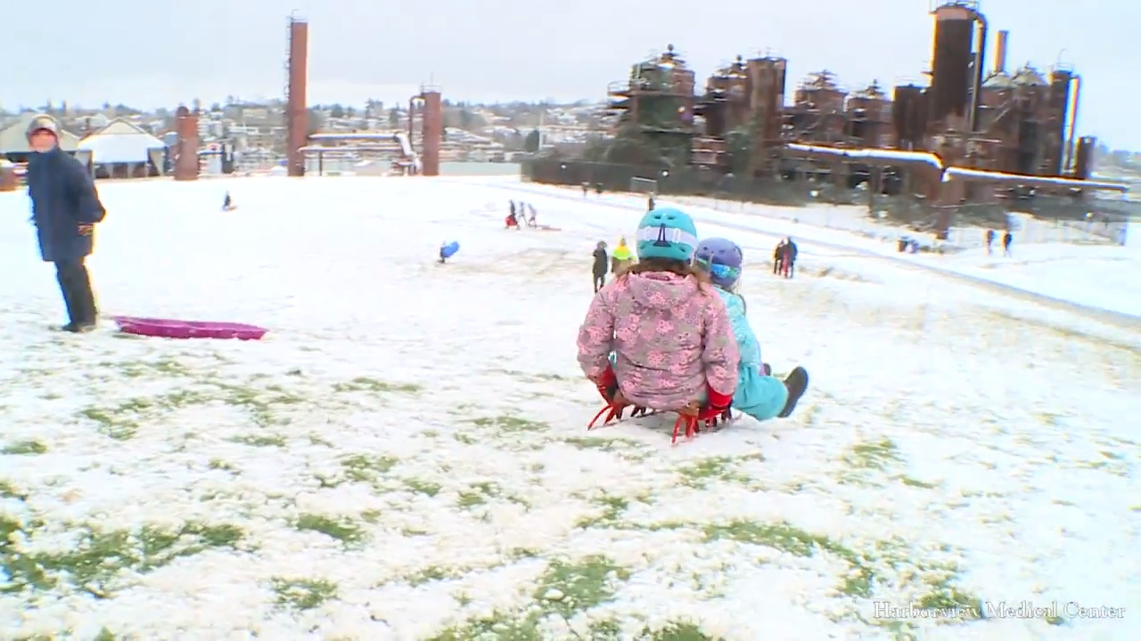 Child taken to hospital after being hit by car while sledding in Ferndale during storm