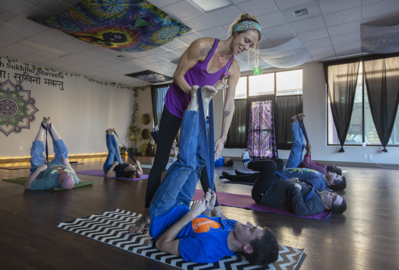A look into The Lotus Pad hosting a yoga class with The Arc of Tri-Cities