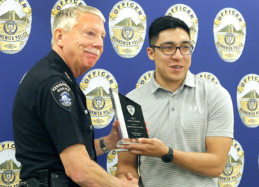 He heard the cry for help and tackled the robber. Kennewick's chief praised his courage