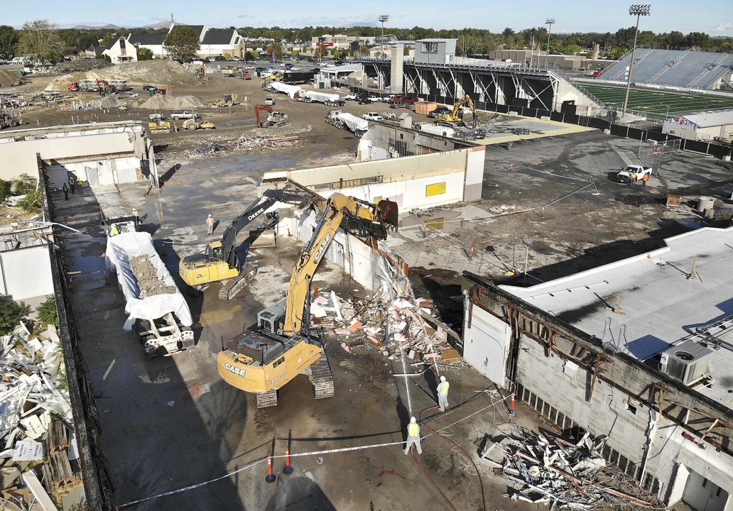 Drone video: See what's left of Kennewick High