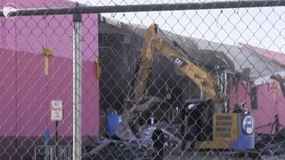 Watch the demolition of the Palace West theater