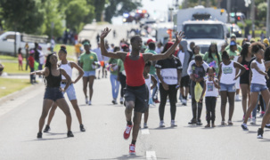 Scenes from Wichita's Juneteenth parade